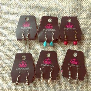 6 pair small earrings